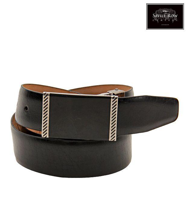 The Savile Row Contemporary Black Matte Finish Belt