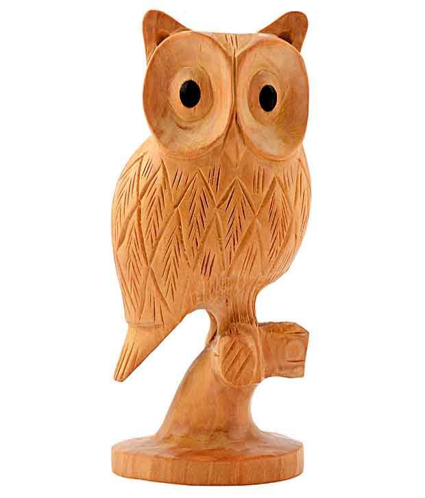 Rajrang Wooden Owl Decorative