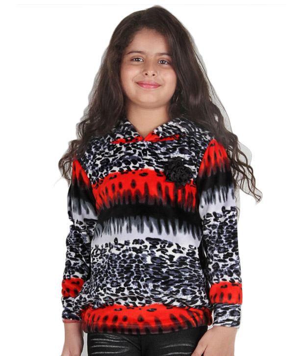 Vine Red Hooded Sweatshirt For Kids