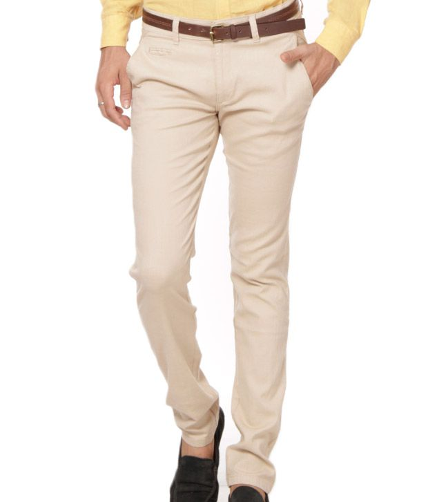 British Terminal Royal Off white Stretchable Chinos