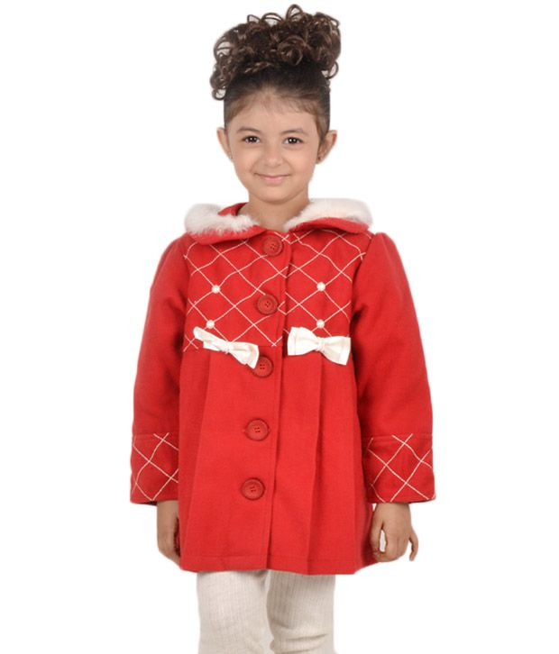 Daffodils Red Jacket For Kids