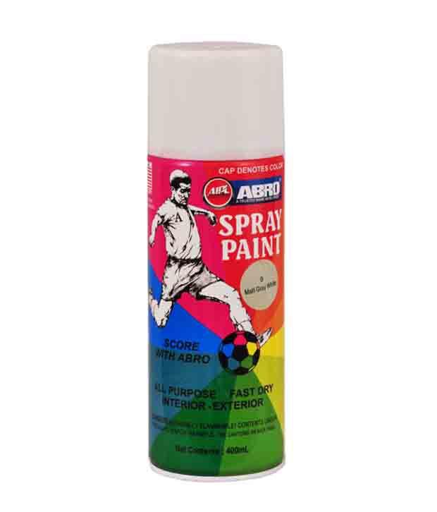 Abro Spray Paint Matt Gray White Buy Abro Spray Paint Matt Gray White Online At Low