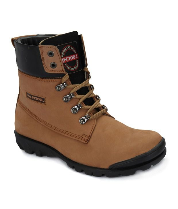 Loochi Men 15001 Brown Boots Ankle Boots