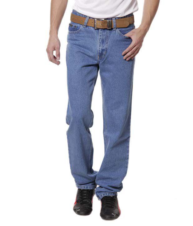 DFU Medium Stone Blue Basic Jeans