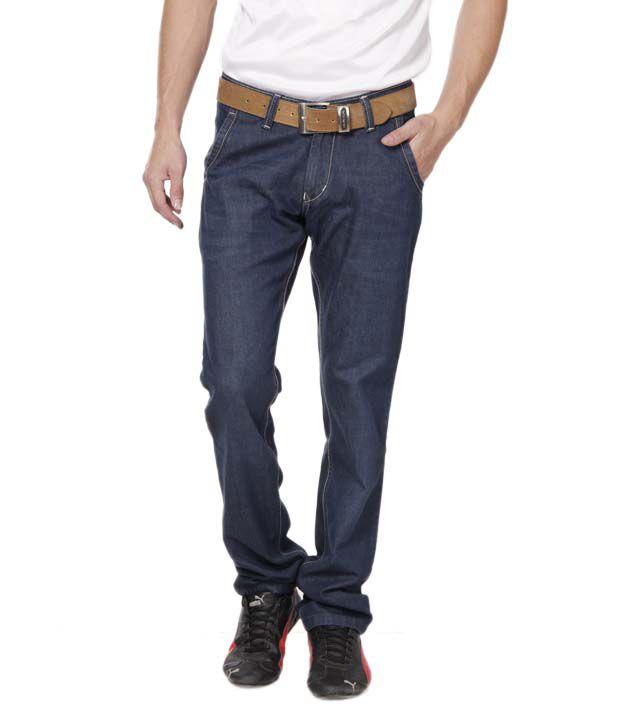 DFU Raw Blue Basic Stretchable Jeans