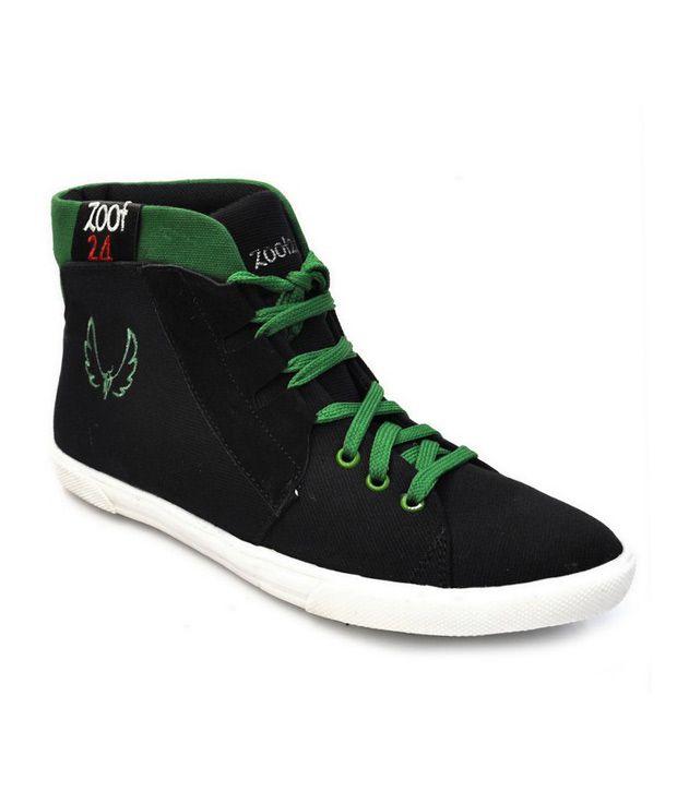 Zoot24 Black  & Green Sneaker Shoes
