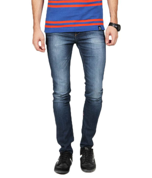 Lee Cooper Originals Stylish Blue Faded Jeans