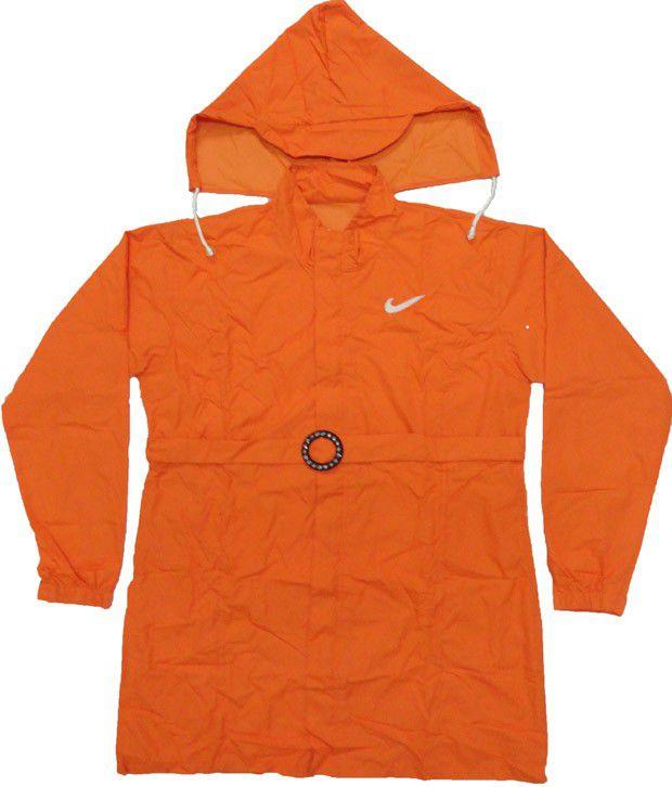 Jazzup Monsoon Dark Orange Raincoat For Kids