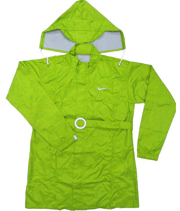 Jazzup Monsoon Lawn Green Raincoat For Kids