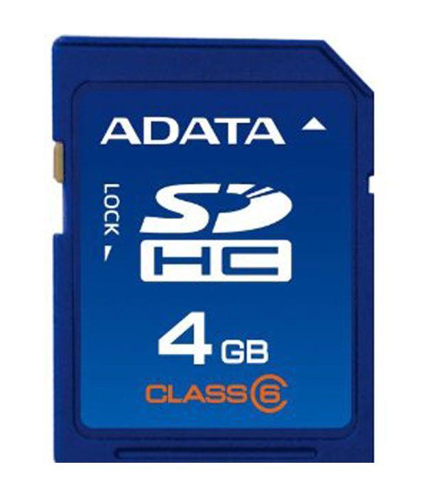 ADATA 4GB Capacity MicroSDHC Class 4 Memory Card /& Card Reader