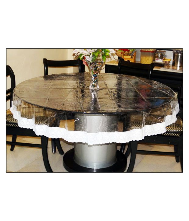 Katwa Clasic  60 Round Clear Transparent with Lace Border