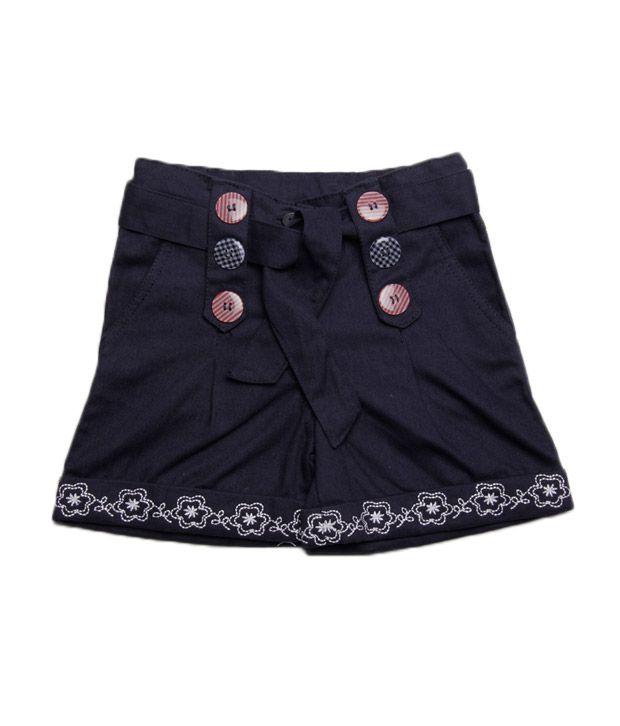Isabelle Dark Blue Shorts For Kids