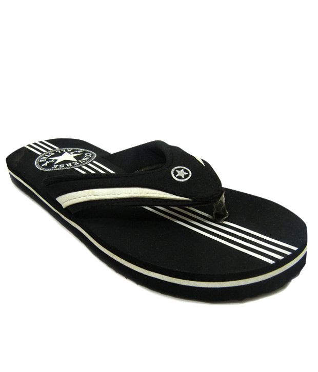 792ba5ac8d53 Converse Stripes Black Slippers Price in India- Buy Converse Stripes Black  Slippers Online at Snapdeal