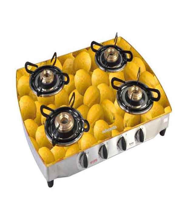 Advanta Premium Vetra SS Lemon Glass Gas Cooktop (4 Burner)