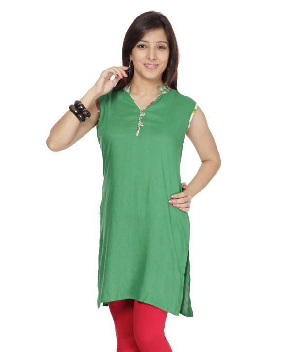 Lavennder Maroon Cotton Long Kurti
