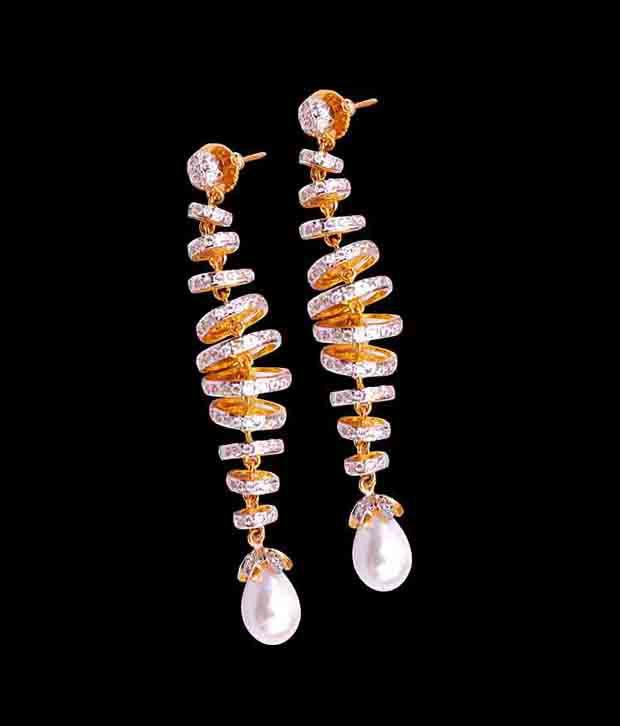 Jwells & More Style Diva Alloy American Diamond Hangings