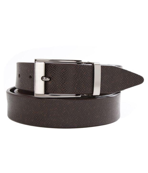 John Ledlie Slim Brown Textured Finish Belt