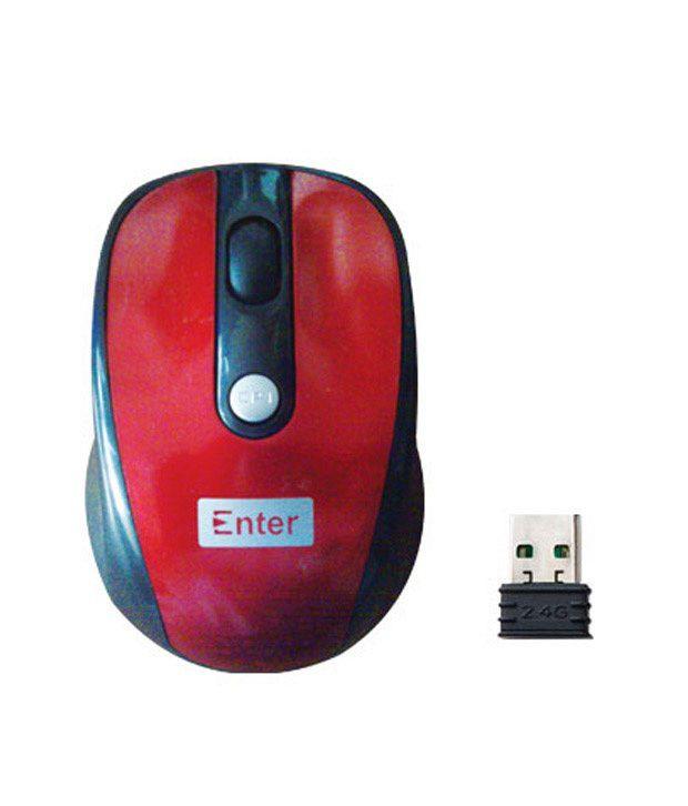 Enter Wireless Optical Mouse E-W50 ( Cherry)