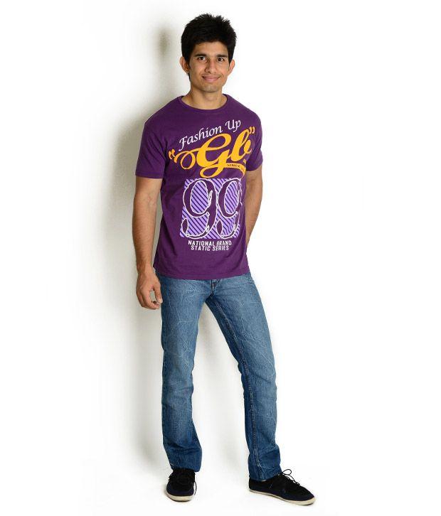 Globus Purple Printed T Shirt