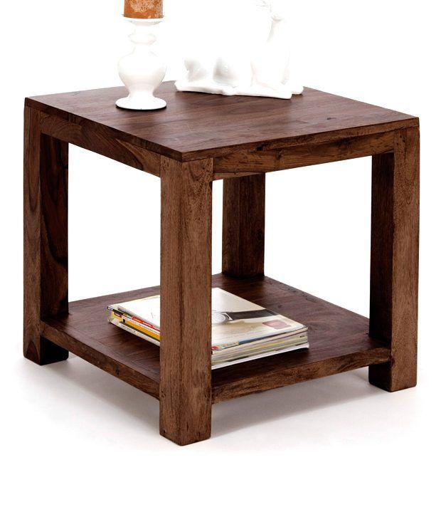 Marwar Stores Sheesham Wood Simple Corner Table