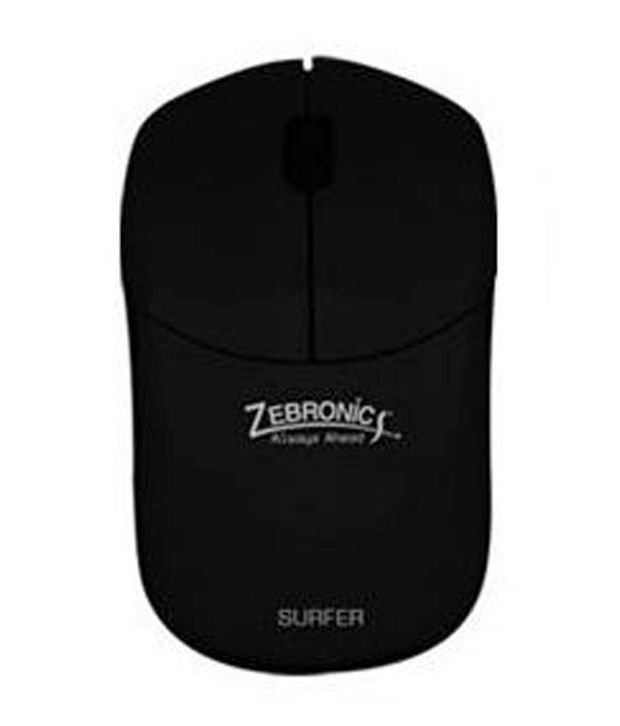 Zebronics 2.4ghz Wireless Optical Mouse (Surfer) Black