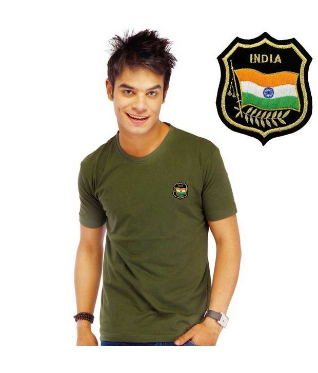 LanosUC Olive Green Cotton T- Shirt
