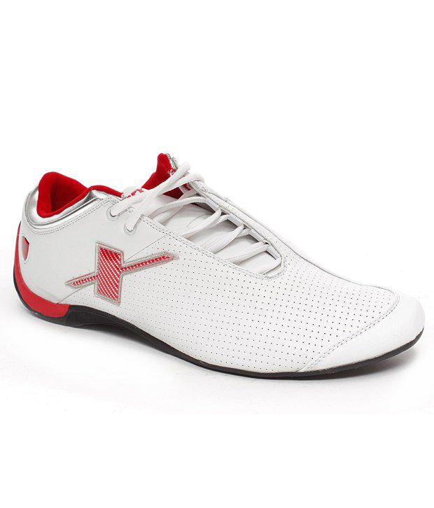 Sparx White \u0026 Red Lifestyle Shoes - Buy