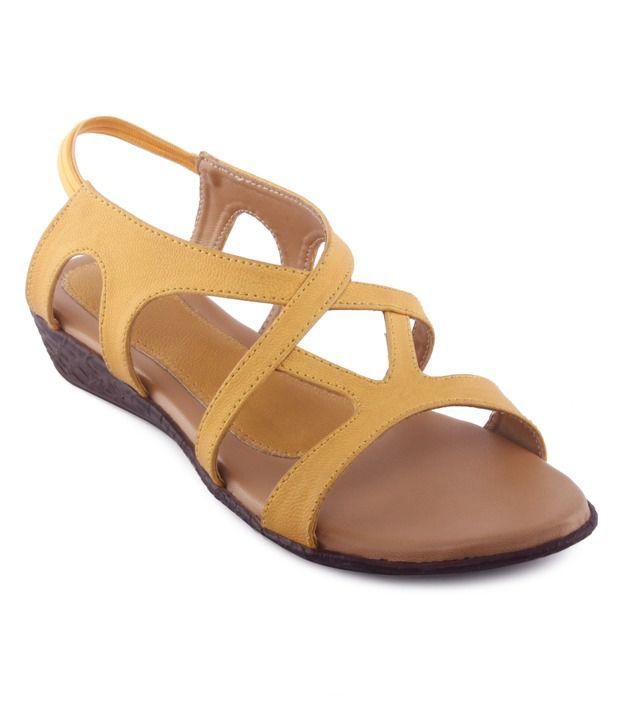 6172845b23527a Kielz Chic Yellow Flat Sandals Price in India- Buy Kielz Chic Yellow Flat  Sandals Online at Snapdeal