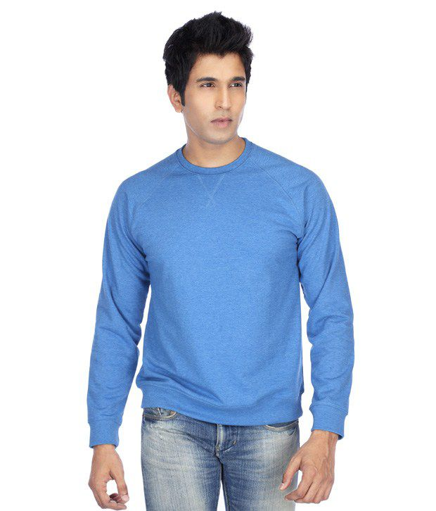 Stop Blue Full Sleeve T-Shirt