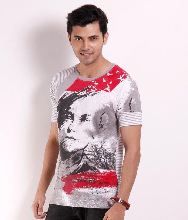 Killer Grey Printed T Shirt