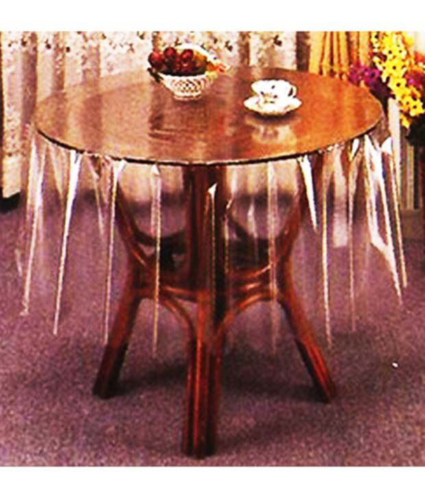 Katwa Clasic - 54 inches Round Clear Transparent Table Cover (54 Inch Diametre)