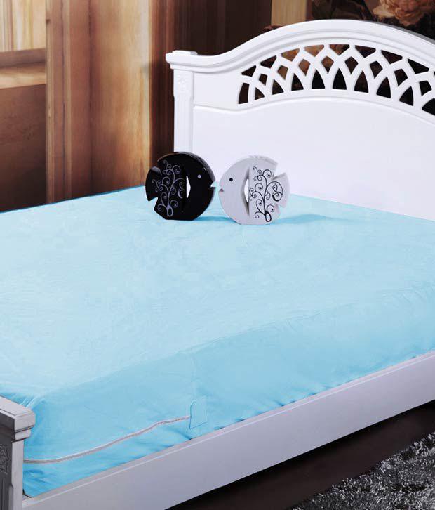 Review Blue Waterproof Mattress Protector 91x182x12 cm Each Set 2 Minimalist - best mattress reviews Modern