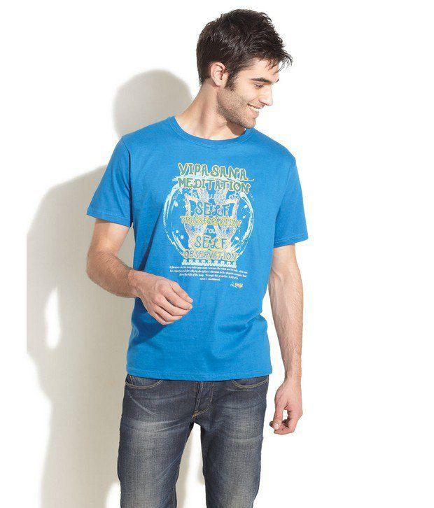 Urban Yoga Blue T-Shirt