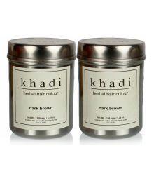 Khadi Herbal Hair Color - Dark  Brown  (Twin Pack) 300Gm