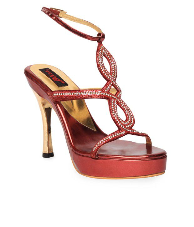Bliss Marvellous Cherry Red Pencil Heel Sandals