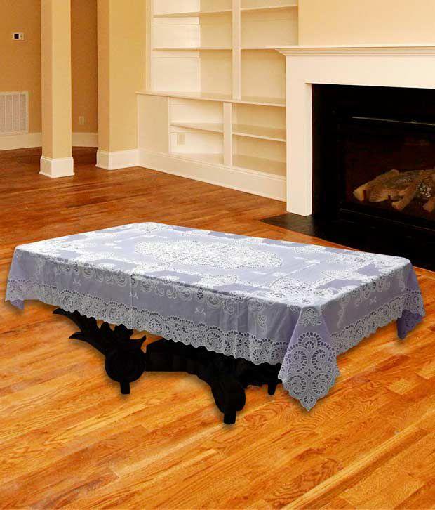 Katwa Clasic - 36 x 54 Inch Lace Vinyl Tablecloth Fancy Design (Lavender)