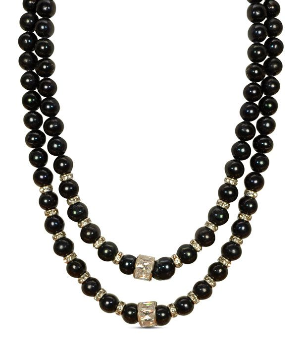 Raaga Jewels Bold Black Pearl Two String Necklace Buy
