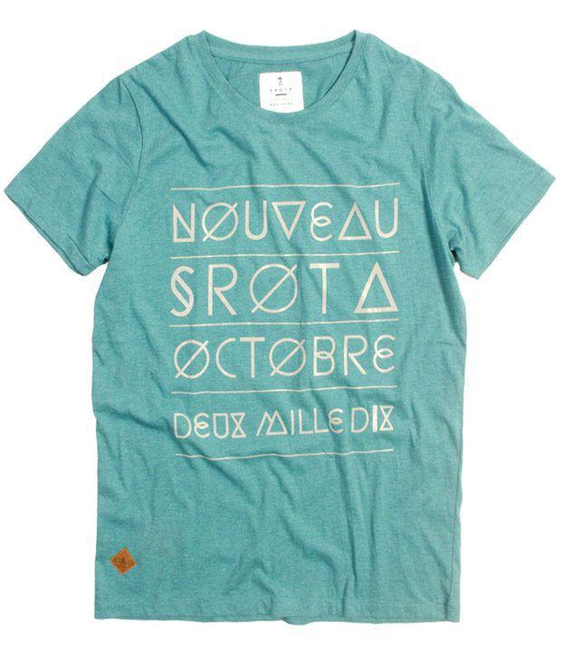 Srota Cool Green Printed T Shirt