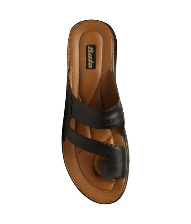 Bata Sandak Black Slippers