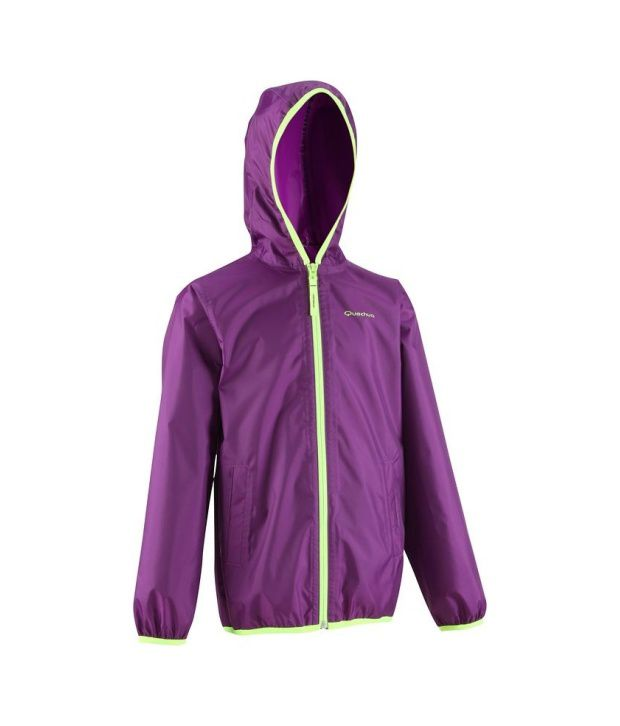 Quechua Hiking Raincut-Zip-Jkt-Jr Rain Wear 8241321