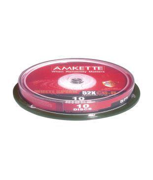 Amkette Pro CD-R 52x 10 Cake Box