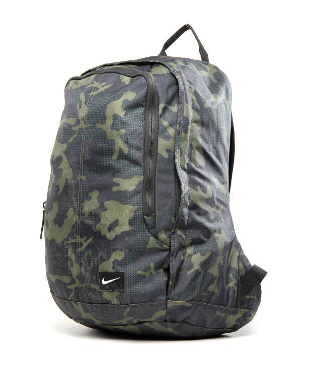 6434ecf15c82 Nike Green   Black Army Print Backpack - Buy Nike Green   Black .