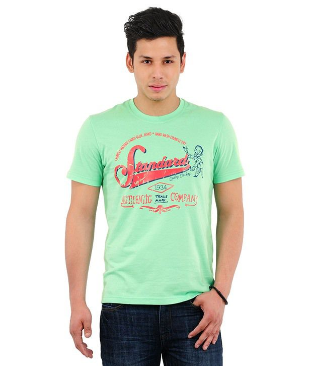 Yepme Standard Spring Green T Shirt