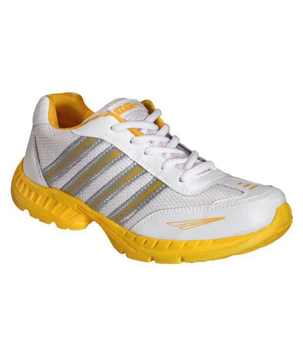 Yepme Knock Out Sports Shoes- White & Yellow