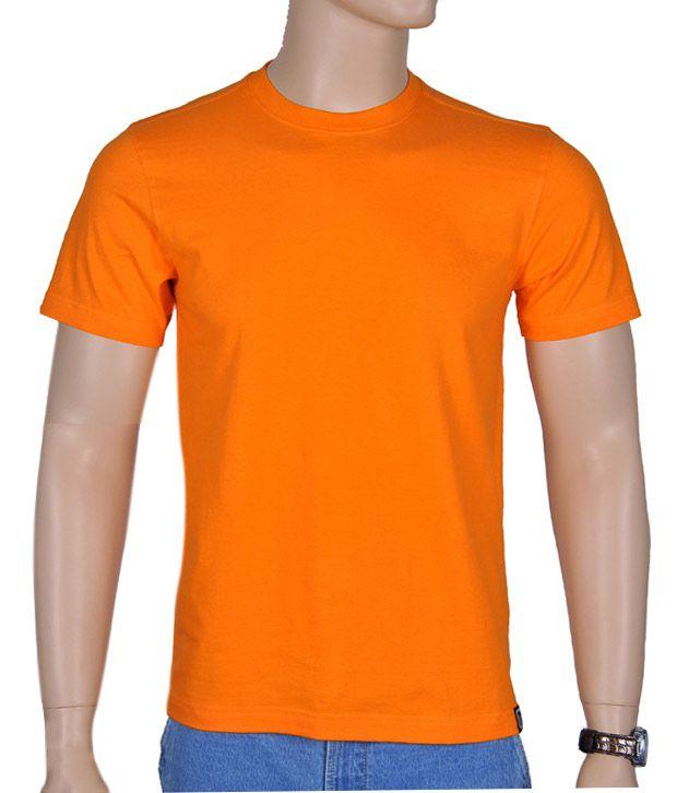 bermuda orange orange plain t shirt buy bermuda orange. Black Bedroom Furniture Sets. Home Design Ideas