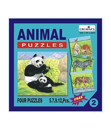 Creatives Animal Puzzle No. 2- 5 to 12 Pieces