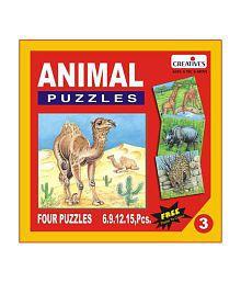 Creatives Animal Puzzle No. 3- 6 to 15 Pieces
