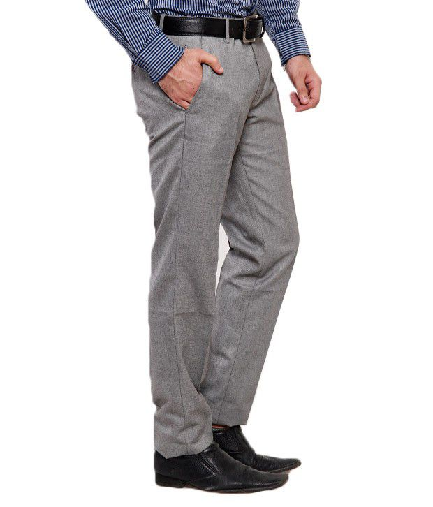 Black Coffee Poly Viscose Grey Trouser