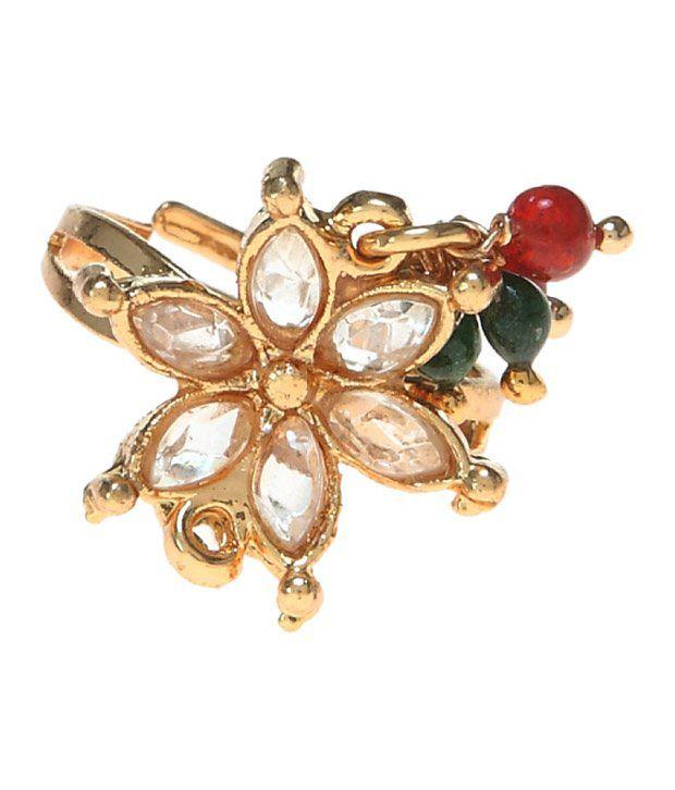Aradhyaa Jewel Arts Kundan Floral  Toering