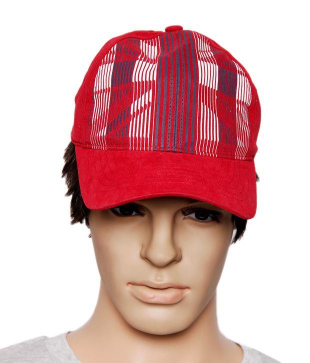 Reebok Fashionable Red & White Cap